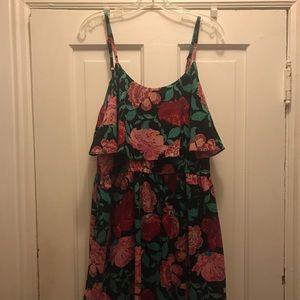 Elle Spaghetti Strap Floral Summer Dress - Large